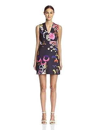 Cynthia Rowley Women's Metallic Floral Bonded Dress