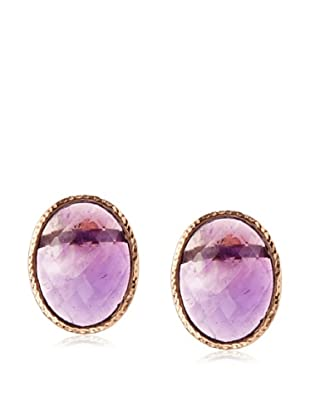 Argento Vivo Amethyst Oval Post Earrings