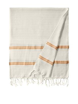 Nomadic Thread Handwoven Towel Pique, Natural/Orange
