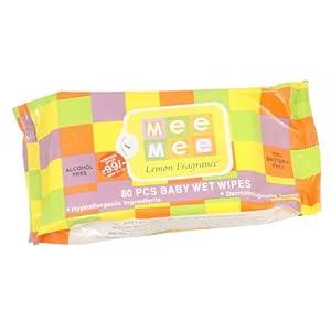 Mee Mee Lemon Fragrance Wet Wipes 80pcs - Pack of 1, F