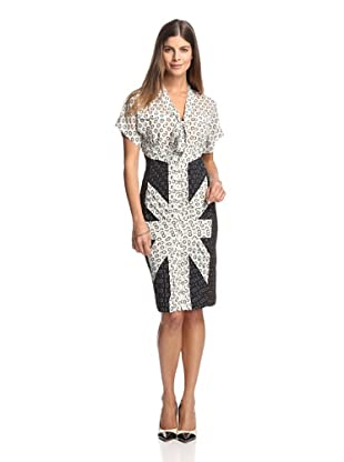 Byron Lars Women's Neck Tie Dress (Ivory/Mascara)