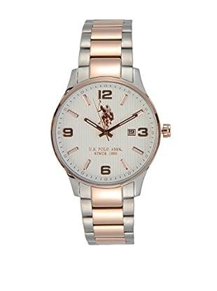 U.S. POLO ASSN. Uhr mit japanischem Quarzuhrwerk Herald silberfarben/rosé 44 mm