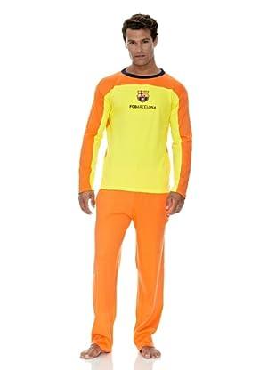 Licencias Pijama Adulto Manga Larga Fútbol Club Barcelona (Amarillo / Naranja)