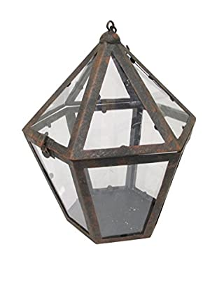 Three Hands Metal Terrarium, Rust