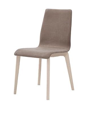 Domitalia Jude-L Chair, Taupe/White Ash