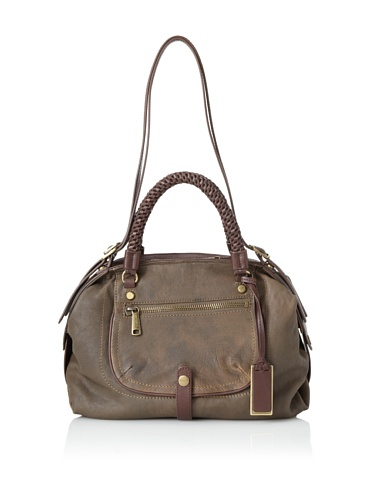 Gryson Women's Skye Pocket Core Leather Satchel (Military)