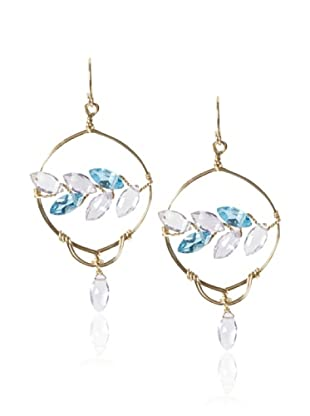 Misha Amethyst & Blue Topaz Chandelier Earrings
