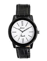 Jainx men Black Genuine leather analogue watch JM154