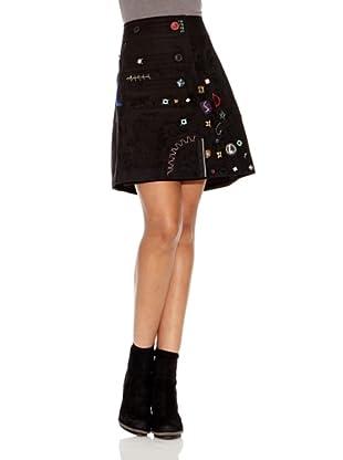 Desigual Falda Carry (Negro Estampado)
