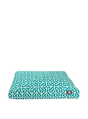 Aruba Small Rectangle Pet Bed, Pacific