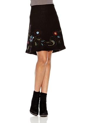 Desigual Falda Nou (Negro Estampado)