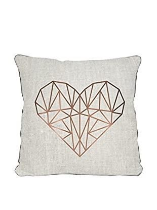 Surdic Kissen Heart mehrfarbig 45 x 45 cm
