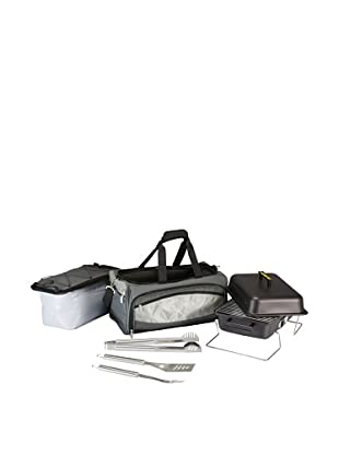 Picnic Time Buccaneer All-In-One Tailgating BBQ Grill/Cooler Set (Grey)