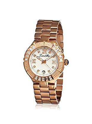 Bertha Women's BR1706 Evelyn Rose Gold/White Stainless Steel Watch