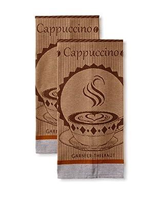 Garnier-Thiebaut Set of 2 Tasses de Café Kitchen Towels, Moka