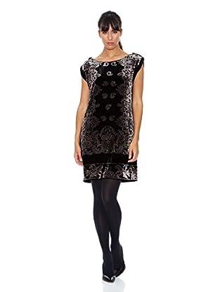 Cortefiel Vestido Terciopelo (Negro)