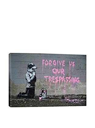 Banksy Forgive Us Our Trespassing Gallery Wrapped Canvas Print