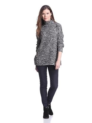 525 America Women's Mock Turtleneck Sweater (Black Combo)