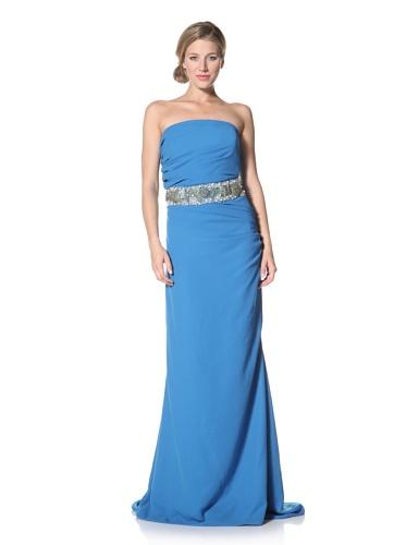 Badgley Mischka Women's Dress with Seashell Belt (Turquoise)