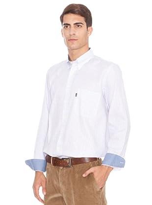 Barbour Camisa Tom (Blanco / Gris)