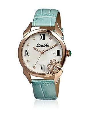 Bertha Uhr mit Japanischem Quarzuhrwerk Clover blau 41 mm