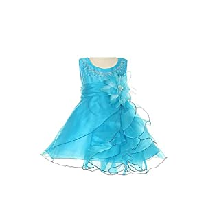 Cinderella Couture B1101 Sleeveless Dress - Turquoise