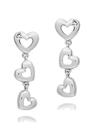 Secret Diamonds Pendientes Corazón Plata 925 Diamante