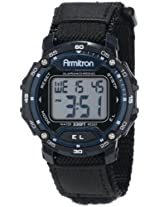 Armitron Sport Unisex 40/8291BLU Navy Blue Accented Digital Chronograph Black Nylon Strap Watch