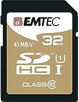 EMTEC 32 GB Class 10 Jumbo Extra SDHC Memory Card