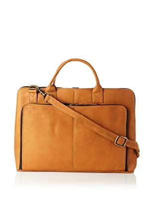 Latico Heritage Collection Slim Top-Zip Briefcase (Natural)