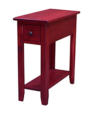 2 Day Designs Wing Back Side Table, Rouge