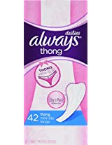 Always Thong Dailies Liners, 42 Count (Pack of 8)