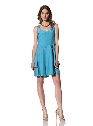Cynthia Rowley Women's Silk Tank Dress with Stiched Panel Skirt