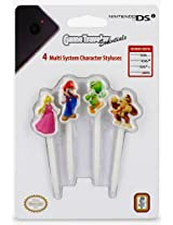RDS Industries Nintendo 3DS Super Mario Character Multi System Styluses (4 Pack)