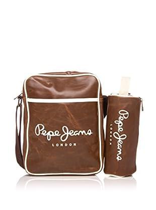 Pepe Jeans Set de bolso bandolera + estuche Marrón