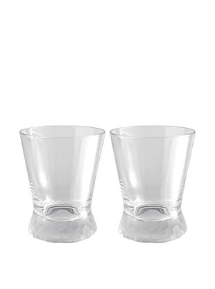 Artland Set of 2 Presscott Frosted Base 12-Oz. Double Old Fashion Glasses