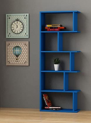 Decortie Bücherregal Tapi blau