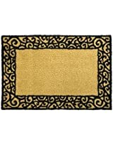 Black Tan beige Scroll swirl Trellis small Area RUG floor mat Home DECOR NEW - MACHINE WASHABLE