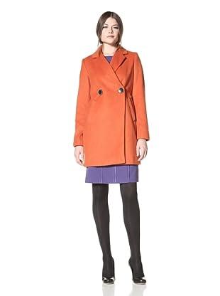 Vince Camuto Women's Boyfriend Coat (Burnt orange)