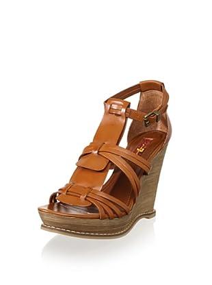 7 for All Mankind Women's Rhemy Wedge Sandal (Cognac)