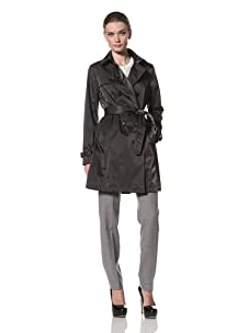 Jane Post Women's Downtown Trench (Petrol)