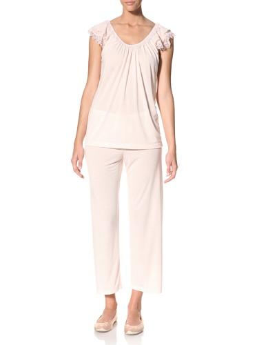 Oscar de la Renta Women's Sweet Slumber Pajama Set (Soft Pink)