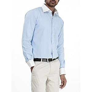 Genesis Blue Striped Men Shirt 11GCSH26182