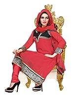Livaaz Party Wear Embroidered Chanderi Salwar Suit dupatta