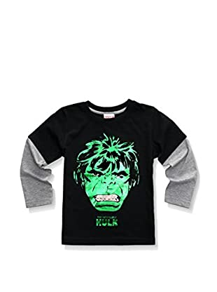 Marvel Longsleeve Hulk Face Distress Foil