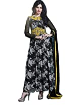 Embroidered Georgette Anarkali Suit