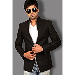Runako Black Men Blazer RK5031