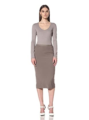 Rick Owens Lilies Women's Basic Pencil Skirt (Dna Dust)