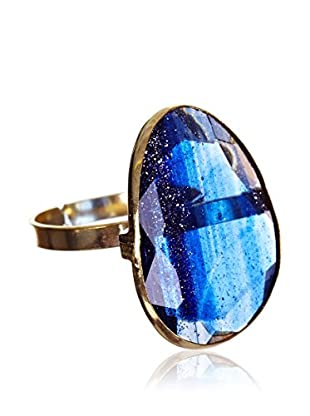 My Silver Anillo Luxury Montana Azul
