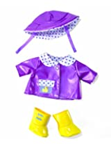 Manhattan Toy Baby Stella Rainy Day Outfit Raincoat Baby Doll Clothing